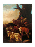 Shepherd with Animals Prints by , Rosa da Tivoli
