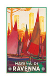 Travel Poster for Marina di Ravenna, Italy Posters