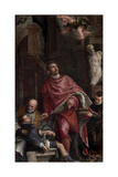St. Pantaleon Healing a Child Print by  Veronese