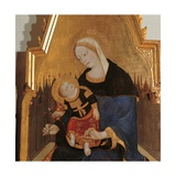 Madonna & Child, Angels, Sts. Augustine, John, Liberatore & Agatha Posters by Lello da Velletri