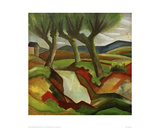 Willows by the Brook Giclee Print by Auguste Macke