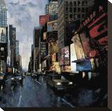 Times Square II Stretched Canvas Print by Marti Bofarull