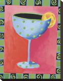 Cocktail Whimsy III Stretched Canvas Print by Kathryn Fortson