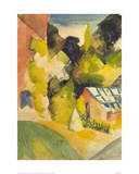 Greenhouse in the Park Giclee Print by Auguste Macke
