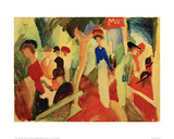 Hat Shop at the Promenade Giclee Print by Auguste Macke