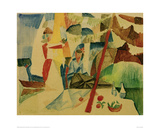Picnic After Sailing Giclee Print by Auguste Macke