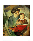 Elisabeth and Walterchen Giclee Print by Auguste Macke