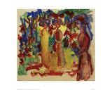 Strolling Women 1913 Giclee Print by Auguste Macke