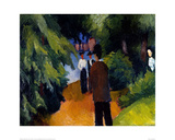 Park with a pond Giclee Print by Auguste Macke
