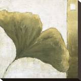 Refreshing Ginko Stretched Canvas Print by Ursula Salemink-Roos