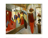 Fashion Boutique 1913 Giclee Print by Auguste Macke