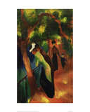 Sunny Road Giclee Print by Auguste Macke