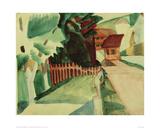 Village Road 1914 Giclee Print by Auguste Macke