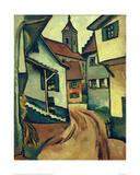 Street with Church in Kandern Giclee Print by Auguste Macke