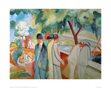 Great Bright Walk Giclee Print by Auguste Macke