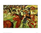 Hussars on Horseback Giclee Print by Auguste Macke
