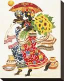 Girassol Impressão em tela esticada por Keith Mallett