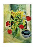 Still life with Tulips Giclee Print by Auguste Macke