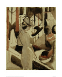 Woman in front of Hat Shop 1914 Giclee Print by Auguste Macke