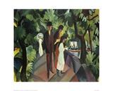 Stroll on the Bridge 2 Giclee Print by Auguste Macke