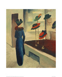 Hat Shop Giclee Print by Auguste Macke