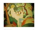 Bathing Women Giclee Print by Auguste Macke