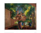 Children by the Fountain Giclee Print by Auguste Macke