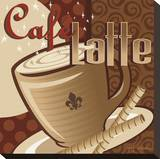 Cafe Latte Stretched Canvas Print by P.j. Dean