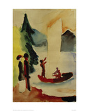 Yellow Sail Giclee Print by Auguste Macke