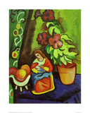 Still Life with Madonna Giclee Print by Auguste Macke
