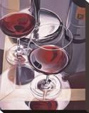 Vin rouge à Venise Reproduction transférée sur toile par Paul Kenton