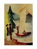 Yellow Sail Giclee Print by Auguste Macke