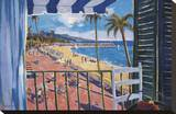 Balcony View Stretched Canvas Print by Manel Doblas