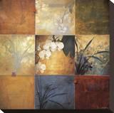Composición de nueve orquídeas|Orchid Nine Patch Reproducción en lienzo de la lámina por Don Li-Leger