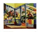 Terrace of a House in St Germain 1914 Giclee Print by Auguste Macke