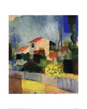 The Bright House Giclée-tryk af Auguste Macke