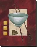 Oriental Dining II Stretched Canvas Print by Rita Vindedzis