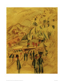 The Road to Ländte Giclee Print by Auguste Macke
