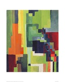 Coloured Shapes II Giclee Print by Auguste Macke