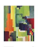 Coloured Shapes II Giclee Print by Auguste Macke
