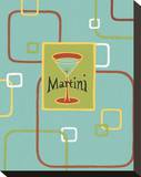 Martini Stretched Canvas Print by Michele Killman