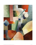 Coloured Composition of Forms Giclee Print by Auguste Macke