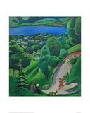Landscape near Lake Tegern Giclee Print by Auguste Macke
