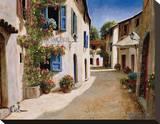 Boulangerie de Peypin Stretched Canvas Print by Gilles Archambault