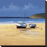 Moorings Low Tide Stretched Canvas Print by David Short