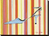 Retro Heels II Stretched Canvas Print by Trish Biddle
