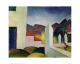 Tunisian Landscape Giclée-tryk af Auguste Macke