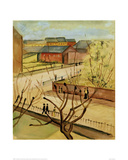 View of our street in spring, 1912 Giclee Print by Auguste Macke