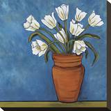 White Tulips Stretched Canvas Print by Ann Parr