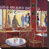 Interior Rojo en Paris Stretched Canvas Print by Manel Doblas